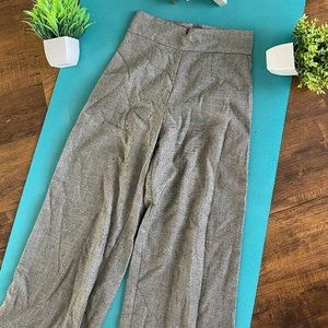 Elastic Waistband Slim Fit Checkers Pant Trouser
